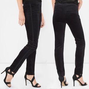 WHBM Velvet Slim Stripe Ankle Tuxedo Pants